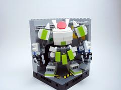 Okamura G1N Ozeki Frame Pictured in Hangar 4 (Jay Biquadrate) Tags: lego diorama mecha mech moc microscale mfz mf0 mobileframezero