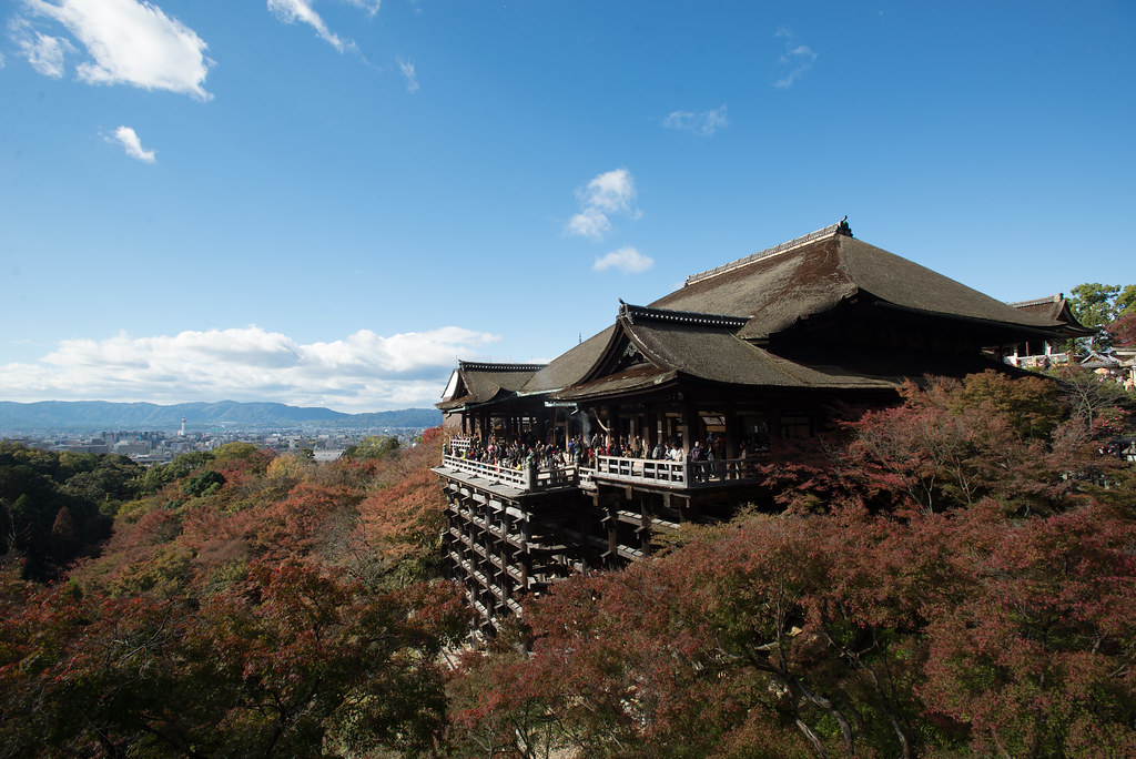 Awesome Kiyomizu-dera temple on stilts