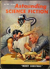 Astounding Science Fiction Vol. 62, No. 5 (Jan., 1959).  Cover by Kelly Freas (lhboudreau) Tags: illustration magazine drawing illustrations drawings pulpfiction argument sciencefiction pulp magazines creche merrychristmas extraterrestrial pulpmagazine freas pulpcover 1959 magazinecover magazinecovers astounding pulps pulpcovers vintagemagazine january1959 vintagemagazines pulpart pulpmagazines astoundingsciencefiction kellyfreas frankkellyfreas astoundingstories classicsciencefiction vintagepulp astoundingmagazine sciencefictionstories streetsmith streetandsmith vintagepulps volume62number5