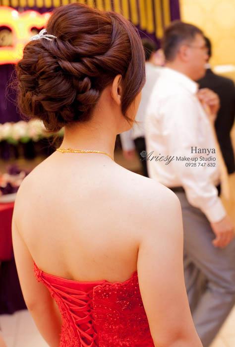 愛瑞思造型團隊,新娘秘書,台北新秘推薦,新秘Hanya,文定造型,典雅髮型,新娘髮型,韓風低馬尾