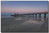 Full Moon Over the Pier (Fraggle Red) Tags: ocean moon gulfofmexico water clouds sunrise dawn pier sand florida naples westcoast hdr naplespier singleexposure 7exp collierco canonef1635mmf28liiusm dphdr forthesky forthewater canoneos5dmarkiii 5d3 5diii adobelightroom5