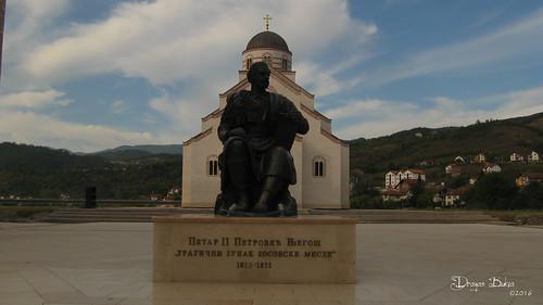 Monument of Petar Petrović Njegoš in Adrićgrad