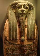 Male coffin mask with green face symbolizing resurrection Egypt 760-525 BCE (mharrsch) Tags: male green beard death washingtondc smithsonian ancient egypt sarcophagus burial ritual coffin rebirth museumofnaturalhistory resurrection middlekingdom falsebeard mharrsch
