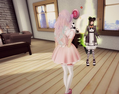 Busted! (littlerowan) Tags: doll transformation makeup lingerie lolita makeover egl dolly petticoat bloomers dollface gothiclolita pannier thighhighs stripedsocks hairbows himelolita katat0nik pixicat
