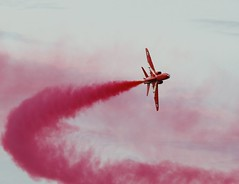 A Red Arrow (Lutra56) Tags: redarrows aircraft airshow airdisplay rafscampton canon7dmk11 canon300mmf4l