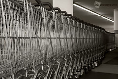 Shopping-carts (vanOers.photos) Tags: shoppingcarts lidl metal metaal canon eos 80d vanoersphotos sepia usm f4l ef1740mm