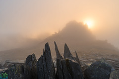 Castell y Gwynt (James G Photography) Tags: uploadedviaflickrqcom snowdonia wales sunset glyderfach glyders castellygwynt castleofthewinds clouds fog mist mountain mountains