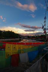 walking in Tsetang (kangxi504) Tags: tibet china prayerflag darchor tsetang