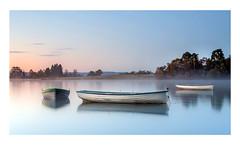 Just drifting. (47mki) Tags: three boats lochrusky mist morning calm trossachs scotland autumn