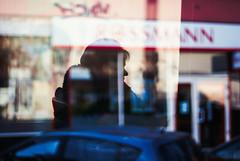 Window Dressing (ewitsoe) Tags: refelction poznan tram poland ewitsoe silhouette woman rider commuter pedestrian travel transit visit autumn city urban