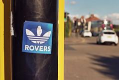 Bristol Rovers (Walt Jabsco) Tags: kodakcolourplus pentaxk1000 bristolrovers thegas rovers bristolroversfootballclub horfield filtonavenue adidas sticker