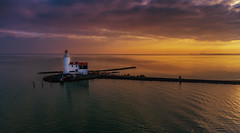 Lighthouse Sunset (mcalma68) Tags: hetpaardvanmarken marken seascape sunset drone phantom 4