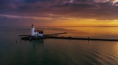 Lighthouse Sunset (mcalma68) Tags: hetpaardvanmarken marken seascape sunset drone phantom 4