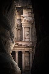 The Treasury from the Siq - Petra, Jordan (M. Khatib) Tags: jordan petra siq ancient unesco heritage desert antiquities