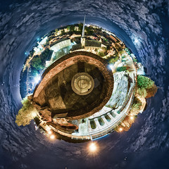 Planet Bock at night (kewl) Tags: luxembourg luxembourgcity bock casemates night panorama