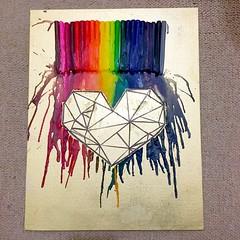 #crayon #melted #art #heart #geometric #gold (insherahkhalid) Tags: crayon melted art heart geometric gold