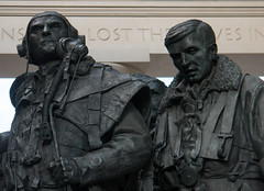 RAF Bomber Command Memorial, Green Park, London (cocabeenslinky) Tags: raf bomber command memorial green park london october 2016 sculpure sculptor ww2 second world war 2 two royal air force statues plinth queen elizabeth ii 2nd diamond jubilee 28 june 2012 portland stone aluminium recovered handley page halifax iii lw682 no426 squadron crew killed belgium unveiled