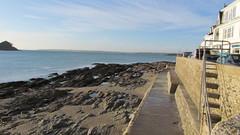 St Mawes Cornwall (daveandlyn1) Tags: water sea sunshine rocks steps houses cornwall stmawes sx30is powershot canon bridgecamera