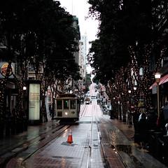 the striper was enchanted (bhautik joshi) Tags: midmarket streetphotography bhautikjoshi thetenderloin bayarea soma fromthehip people street rain marketstreet candid california sanfrancisco sfist sf powell powellstreet cablecar muni publictransport bus unitedstates us