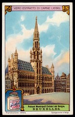 Liebig Tradecard S1170 - Town Hall, Brussels (cigcardpix) Tags: tradecards advertising ephemera vintage liebig architecture