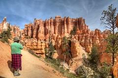 James at Queens Garden (JoelDeluxe) Tags: bryce national monument park hoodoos redrocks views trails queens trail navajo loop ut hdr joeldeluxe