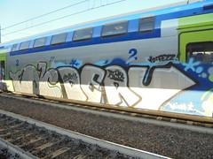 yo fezz (en-ri) Tags: ta crew atrash nero train torino graffiti writing 2016 grigio