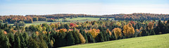 Colourful Rural Panorama (caribb) Tags: quebec qubec canada 2016 photography easterntownships lescantonsdelest landscape panorama countryside trees fall autumn