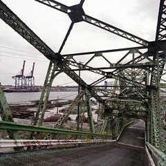 (.tom troutman.) Tags: bronica sqai film analog 120 6x6 mediumformat fuji pro 160 40mm abandoned bridge nj elizabeth