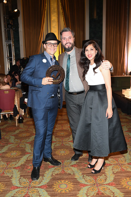 Fusion Events team (Arthur K, Nick Love and Rumina Fazal) post winning their award for Top Event Planners in the Greater Toronto Area, at the Top Choice Awards 2016