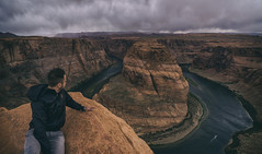 Crawling to the edge (RigieNL) Tags: arizona horseshoebend america usa page nature landscape ngc