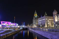 Long exposure Liverpool (paul hitchmough photography) Tags: colours longexpousureatnight nikond800 nightphotography liverbirds liverpool rivermersey pierhead paulhitchmoughphotography longexposure