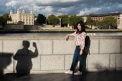(AmirsCamera) Tags: london uk england toweroflondon tower river thames tourists ladies women shadow light people streetphotography colour color fujifilm fuji x100s urban street september 2016