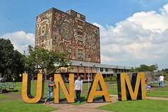 Biblioteca Central, UNAM (javierchb) Tags: mexico mexicocity cdmx unam cu ciudaduniversitaria library landscape green university sky photography photographer unesco outdoor