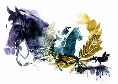 Horses Race (LUIS TINOCO - ILLUSTRATOR) Tags: illustration illustrator ilustrador ilustracion illustrations ilustrator horse horses caballo caballos watercolor acuarela