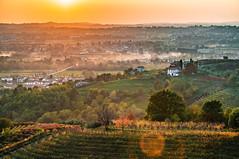 Layers of Friuli (Ettore Trevisiol) Tags: ettore trevisiol nikon d300 nikkor 18 70 landscape friuli italy hills colline aquila del torre savorgnano italia autunno autumn tramonto sunset