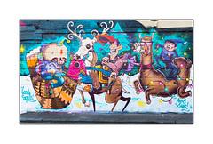 Street Art (Lost Souls), North London, England. (Joseph O'Malley64) Tags: lostsouls squirl spzero76 captainkris streetart urbanart graffiti northlondon london england uk britain british greatbritain art artists artistry artwork mural muralists brickwork bricksmortar pointing mouldings stucco stuccowork blockpaving granitekerbing tarmac doubleyellowlines noparkingatanytime parkingrestrictions wiring christmas christmas2016 urban urbanlandscape aerosol cans spray paint