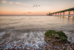 Clevedon Pier Sunrise (Chris Sweet Photography) Tags: clevedon pier victorian seascape water longexposure rocks movement sunrise goldenhour warm winter landscape