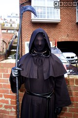 IMG_6480 (Neil Keogh Photography) Tags: 2016 belt black cloak gloves goth gothic grimreaper hood leather man mask monk november november2016 robe scythe staff whitbygothweekend