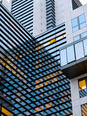 Geometric (CoolMcFlash) Tags: geometry geometrie architecture architektur building gebude striped lines reflection modern vienna fujifilm x30 gestreift linien spiegelung fotografie photography facade fassade window fenster blue blau pattern muster texture textur