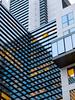 Geometric (CoolMcFlash) Tags: geometry geometrie architecture architektur building gebäude striped lines reflection modern vienna fujifilm x30 gestreift linien spiegelung fotografie photography facade fassade window fenster blue blau pattern muster texture textur