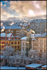 Winter morning time in La Chaux de Fonds. No. 4860. (Izakigur) Tags: lasuisse laventuresuisse liberty lachauxdefonds tchaux hura swiss myswitzerland musictomyeyes winter urban neuchatel light licht lumière izakigur flickr feel europe europa dieschweiz topf25 topf500 100faves 200faves 250faves 500faves