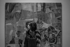 Arkh (qbf_ivanvarela) Tags: nikon nikond3300 d3300 bw blackandwhite bn blancoynegro oneperson onewomanonly museum museo youngadult onlywomen holding wirelesstechnology city art monocromtico interior surrealista monochromatic ou touc touch toucg