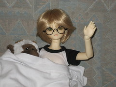 Saturday Morning TV 002 (EmpathicMonkey) Tags: bjd bluefairy olive toby happy monkey photo story ball jointed dolls toys