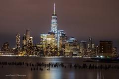 One World Trade Center, NYC (mitzgami) Tags: buildings architecture skyscraper lowermanhattan manhattan nightphotography landscape hudsonriver newjersey hoboken newyorkcity onewtc oneworldtradecenter d7000 nikonphotography longexposure inexplore flickr