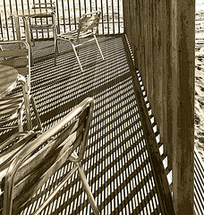 Deck (Durley Beachbum) Tags: odc shadows chairs decking seating patterns arrows bournemouth december