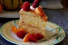 Charlotte pêche mangue (C@rlos@FC Photography) Tags: dessert charlotte anniversaire mangue pêche agaragar abricots framboises myrtilles biscuitscuillère