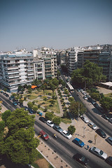Thessaloniki cityscape (trinidalitism) Tags: park city travel blue summer vacation sky holiday tourism nature canon cityscape greece thessaloniki timeless whitetower cityline 2470mm makedonia cityguide  macedoniagreece canoneos6d