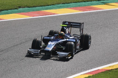 Artem Markelov in the GP2 qualifying session at the 2015 Belgium Grand Prix