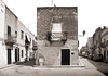 Two Streets (albireo 2006) Tags: italien two bw italy streets blackwhite italia balcony pb nb bn sicily italie sicilia favignana blackandwhitephotos isoleegadi egadiislands
