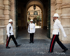 Guarding The Palace (slaup) Tags: street travel holiday slr smart photography gate dress military entrance malta palace marching soldiers uniforms guards troops patrol armed valletta bayonet grandmaster patrolling